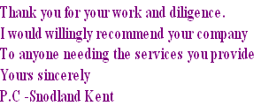 Thank you for your work and diligence. 