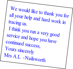 We would like to thank you for 